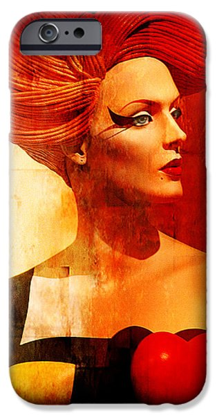 Staley Mixed Media iPhone Cases - Calypso Mama iPhone Case by Chuck Staley