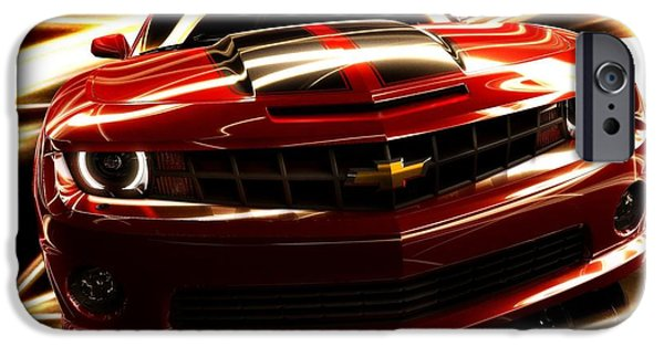 Art Work iPhone Cases - Camaro SS iPhone Case by Art Work