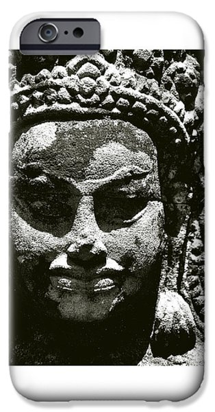 Buddhism iPhone Cases - Cambodian Mask iPhone Case by Don Saunderson