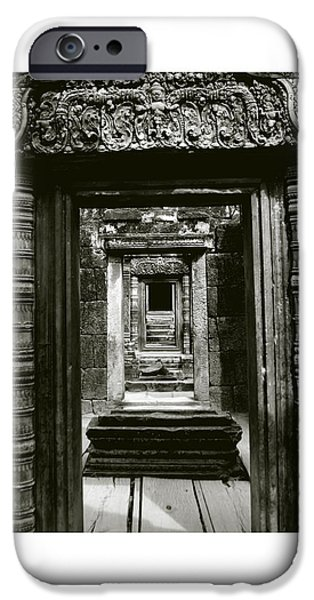 Buddhism iPhone Cases - Cambodian Temple iPhone Case by Don Saunderson