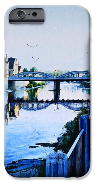 Cambridge Paintings iPhone Cases - Cambridge Summer Morning iPhone Case by Hanne Lore Koehler