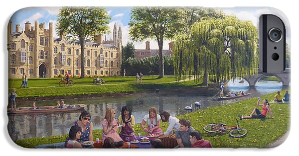 Cambridge Paintings iPhone Cases - Cambridge Summer iPhone Case by Richard Harpum