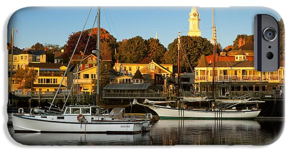 Morning iPhone Cases - Camden Maine iPhone Case by Brian Jannsen