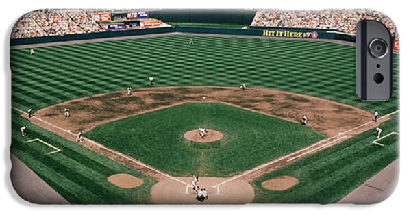 Camden Yards iPhone Cases - Camden Yards Baseball Field Baltimore Md iPhone Case by Panoramic Images