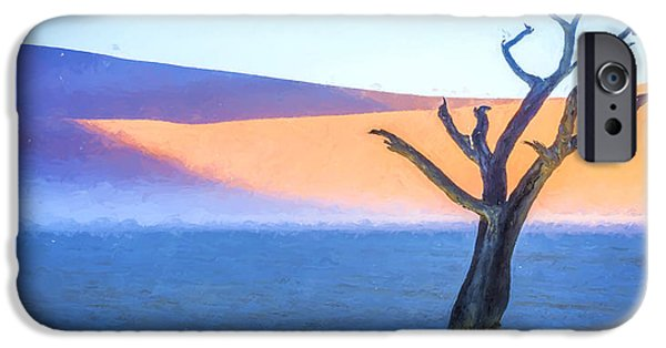 Mist iPhone Cases - Camel Thorn Dawn iPhone Case by Duane Miller
