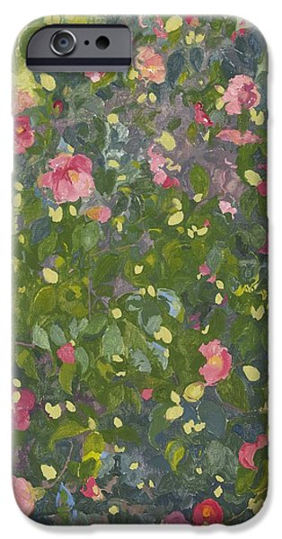 Camellia iPhone Cases - Camellia in Flower iPhone Case by Leigh Glover