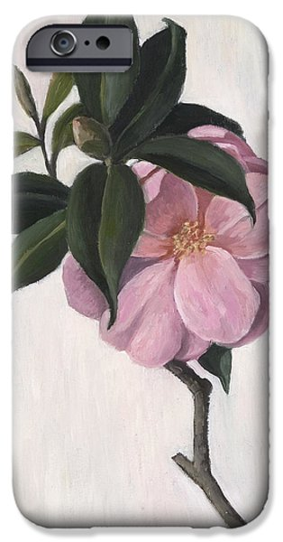 Camellia iPhone Cases - Camellia iPhone Case by Ruth Addinall