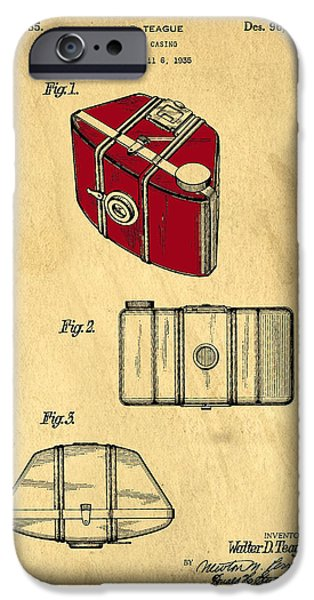 Brownie iPhone Cases - Camera Casing Patent 1935 iPhone Case by Edward Fielding
