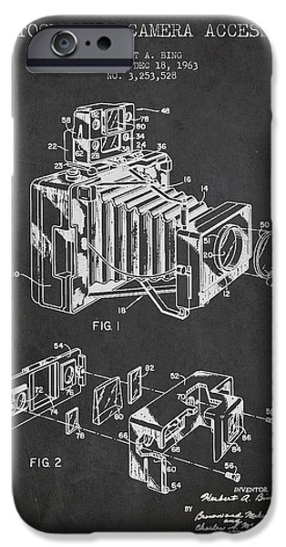 Technical iPhone Cases - Camera Patent Drawing From 1963 iPhone Case by Aged Pixel
