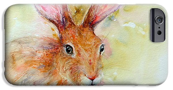 Brown Hare iPhone Cases - Camouflage Brown Hare iPhone Case by Arti Chauhan
