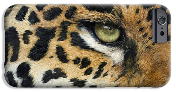 Jaguars iPhone Cases - Camouflage iPhone Case by Lucie Bilodeau