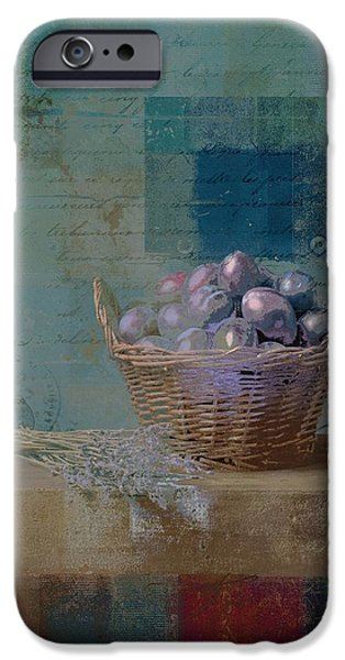 Basket Digital Art iPhone Cases - Campagnard - Rustic Still Life - j085079161f iPhone Case by Variance Collections