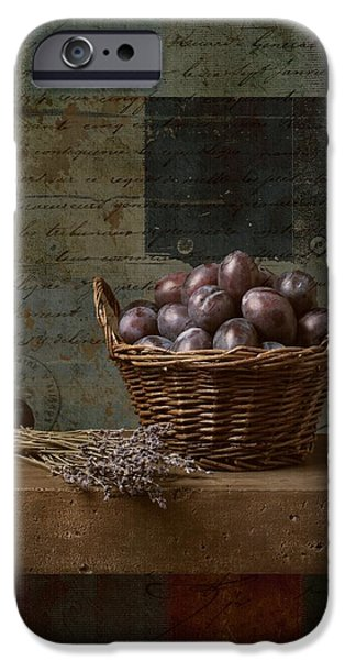 Antiques iPhone Cases - Campagnard - Rustic Still Life - s01otxt1ds1 iPhone Case by Variance Collections