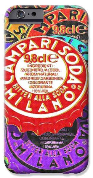 Campari Soda Caps iPhone Case by Tony Rubino