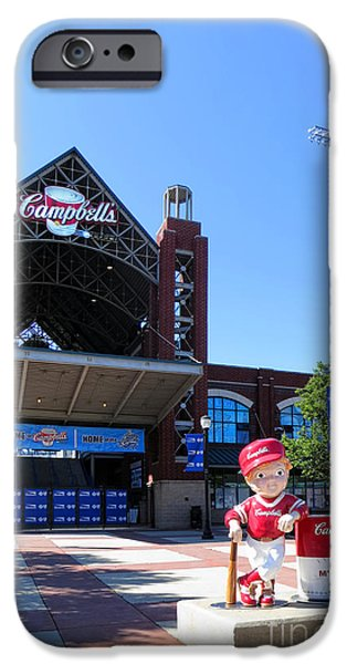 Baseball Stadiums Photographs iPhone Cases - Campbells Field iPhone Case by Olivier Le Queinec