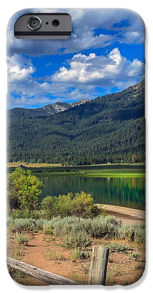 Campground View Of Lake Cascade iPhone Case by Robert Bales