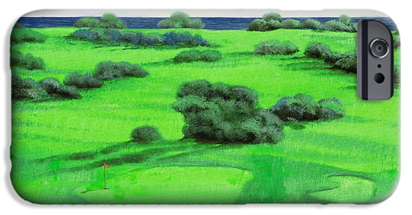 Golf Course iPhone Cases - Campo Da Golf iPhone Case by Guido Borelli