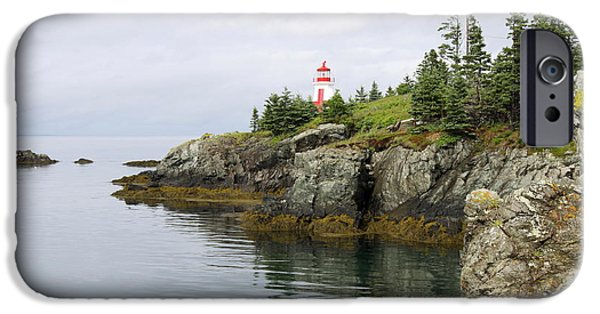 East Quoddy Lighthouse iPhone Cases - Campobello Island -  East Quoddy Lightstation iPhone Case by Christiane Schulze Art And Photography