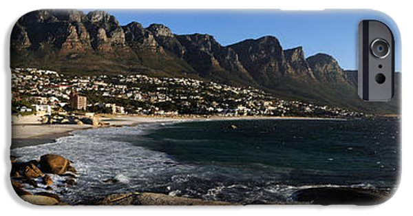 Cape Town iPhone Cases - Camps Bay With The Twelve Apostles iPhone Case by Panoramic Images