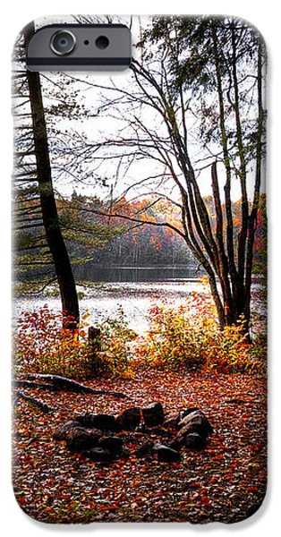 Campsite on Cary Lake iPhone Case by David Patterson