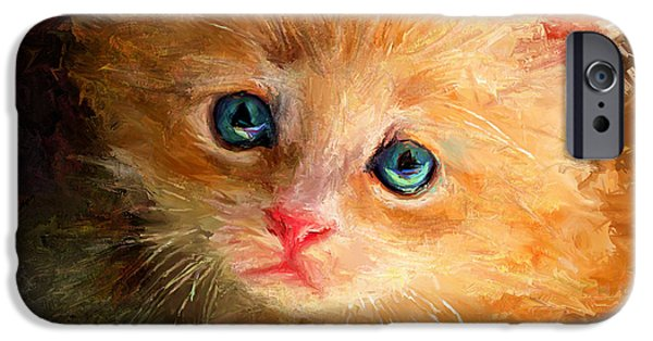 House Pet Digital Art iPhone Cases - can I trust you iPhone Case by Yury Malkov
