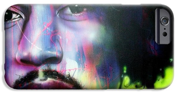 Sixties iPhone Cases - Can You Hear Me iPhone Case by Christian Chapman Art