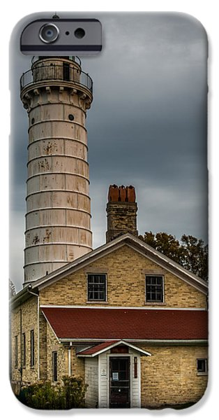 Chicago iPhone Cases - Cana Island Lighthouse By Paul Freidlund iPhone Case by Paul Freidlund