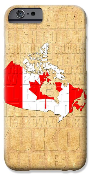 Canadian Map iPhone Cases - Canada iPhone Case by Andrew Fare