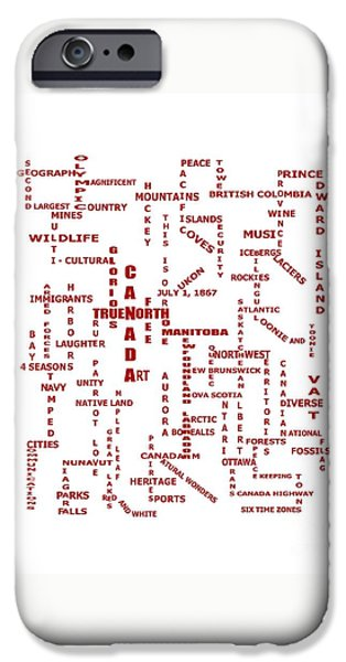 Landmarks Tapestries - Textiles iPhone Cases - Canada Crosswords Duvet iPhone Case by Barbara Griffin