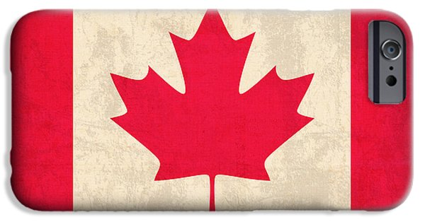 Canada iPhone Cases - Canada Flag Vintage Distressed Finish iPhone Case by Design Turnpike