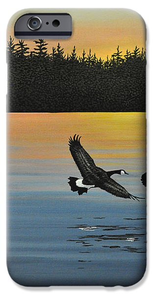 Canada Geese iPhone Case by Kenneth M  Kirsch