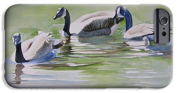 Canadian Geese Paintings iPhone Cases - Canada Geese iPhone Case by Sharon Freeman