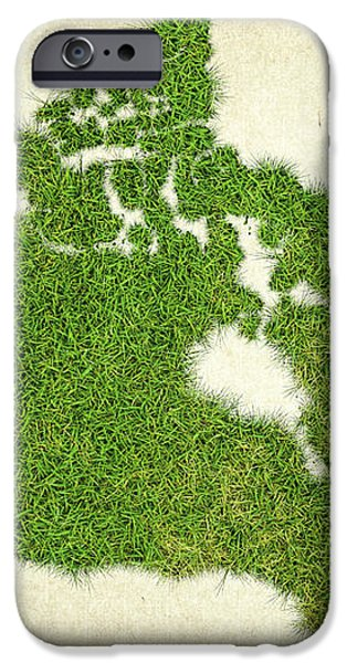 Canada Grass Map iPhone Case by Aged Pixel