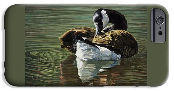 Geese iPhone Cases - Canadian Goose iPhone Case by Lucie Bilodeau