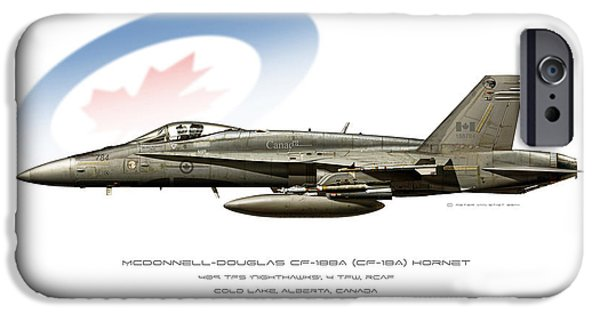 Wwi iPhone Cases - Canadian Hornet iPhone Case by Peter Van Stigt