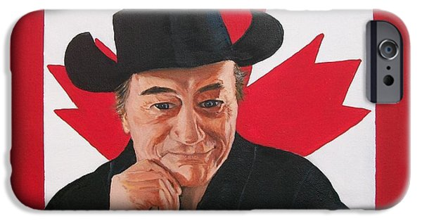Nation iPhone Cases - Canadian Icon Stompin Tom Conners  iPhone Case by Sharon Duguay