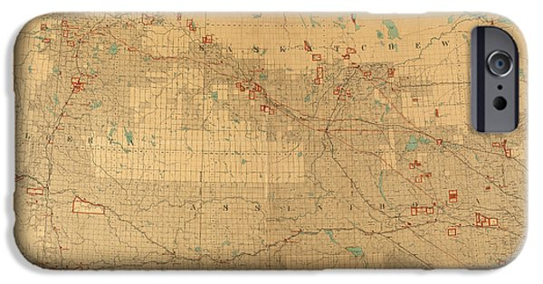 Canadian Map iPhone Cases - Canadian Mounted Police Map iPhone Case by Andrew Fare
