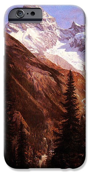 Hofner iPhone Cases - Canadian Rockies Asulkan Glacier iPhone Case by MotionAge Designs