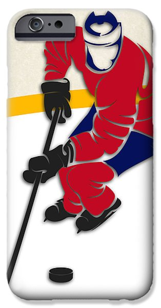 Montreal Canadiens iPhone Cases - Canadiens Hockey Rink iPhone Case by Joe Hamilton