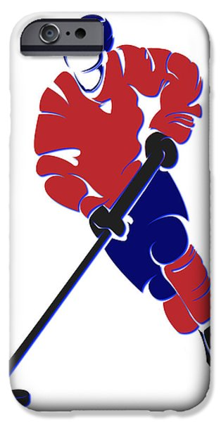 Montreal Canadiens iPhone Cases - Canadiens Shadow Player iPhone Case by Joe Hamilton