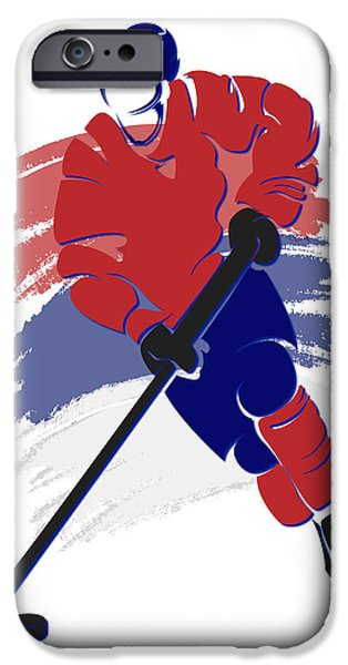 Montreal Canadiens iPhone Cases - Canadiens Shadow Player2 iPhone Case by Joe Hamilton
