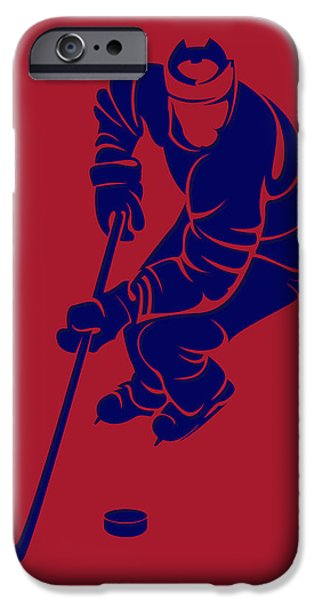 Montreal Canadiens iPhone Cases - Canadiens Shadow Player3 iPhone Case by Joe Hamilton
