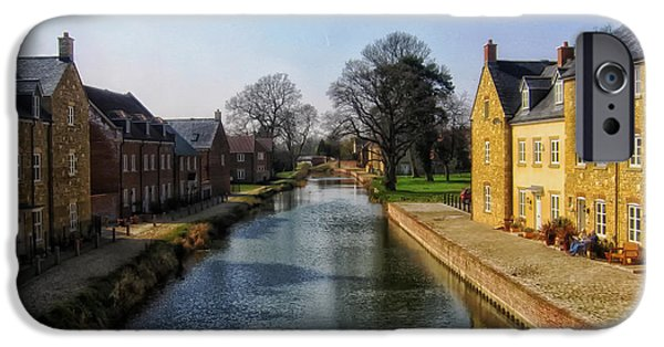 Town iPhone Cases - Canal in Stroud England iPhone Case by Mountain Dreams