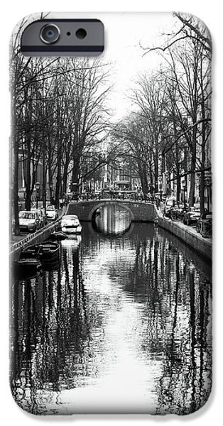 Monotone iPhone Cases - Canal iPhone Case by John Rizzuto