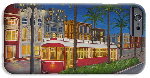 Canal Street Line iPhone Cases - Canal Street Car Line iPhone Case by Valerie Carpenter