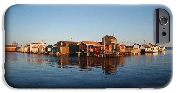 Canandaigua Lake iPhone Cases - Canandaigua Lake Boat Houses iPhone Case by Bonita Fine Art