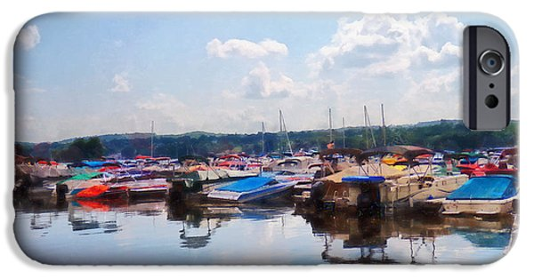 Canandaigua Lake iPhone Cases - Canandaigua City Pier iPhone Case by Susan Savad