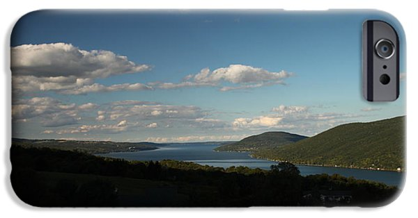 Canandaigua Lake iPhone Cases - Canandaigua Lake and Bare Hill iPhone Case by Steve Clough