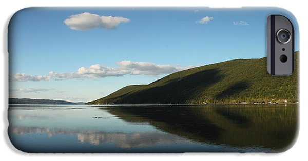 Canandaigua Lake iPhone Cases - Canandaigua Lake Reflection iPhone Case by Steve Clough
