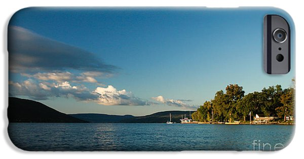 Canandaigua Lake iPhone Cases - Canandaigua Lake Western Shore iPhone Case by Steve Clough
